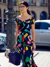 元旦服装街拍 长裙来袭演绎不败造型
